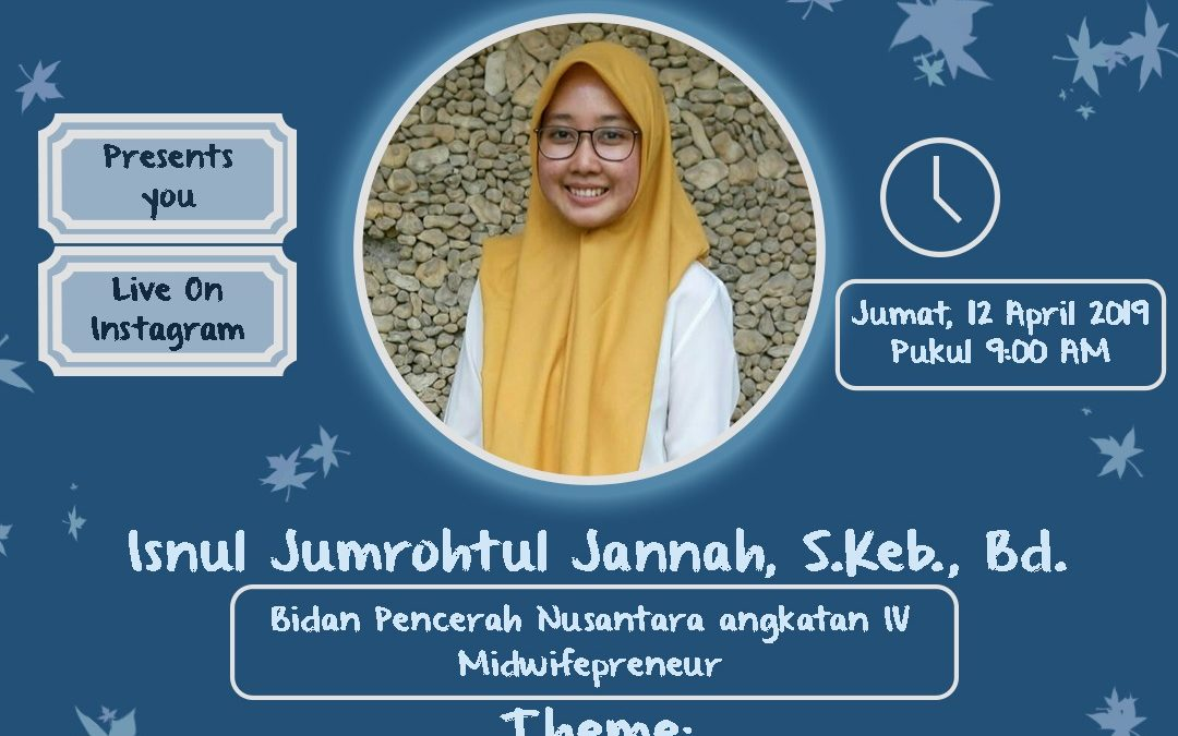 "Aveetalk Inspire:""Proud to be Midwife & Sosial Project"" with Isnul Jumrohtul Jannah S.Keb., Bd"